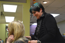 Carrie Porter, owner of Carrie and Company in Sturbridge, MA, working her magic